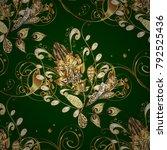antique golden repeatable... | Shutterstock .eps vector #792525436