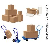 transport or storage services.... | Shutterstock .eps vector #792533515