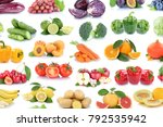 fruits and vegetables... | Shutterstock . vector #792535942