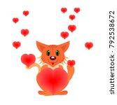 illustration for valentine's... | Shutterstock .eps vector #792538672