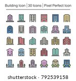building line icon editable... | Shutterstock .eps vector #792539158