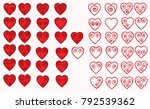 set of icons depicting heart... | Shutterstock .eps vector #792539362
