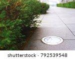 sidewalk lamps. lighting of... | Shutterstock . vector #792539548