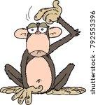 confused cartoon monkey | Shutterstock .eps vector #792553396