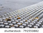 metal tactile paving tiles for... | Shutterstock . vector #792553882