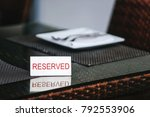reserved table in the... | Shutterstock . vector #792553906