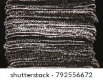 a stack of striped fabric.... | Shutterstock . vector #792556672