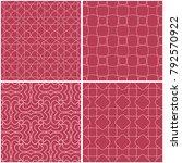 geometric patterns. set of pale ... | Shutterstock .eps vector #792570922