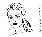 vector beautiful woman face. | Shutterstock .eps vector #79257187