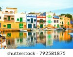 colorful portocolom on majorca... | Shutterstock . vector #792581875