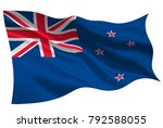 new zealand national flag flag... | Shutterstock .eps vector #792588055