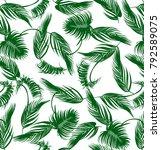 palm leaf design pattern  | Shutterstock . vector #792589075