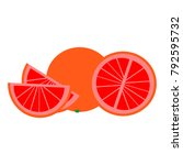 grapefruit flat icon | Shutterstock .eps vector #792595732
