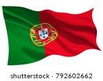 portugal national flag flag icon | Shutterstock .eps vector #792602662