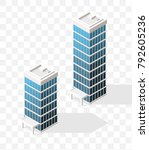 isometric high quality city... | Shutterstock .eps vector #792605236