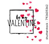valentines day card with red... | Shutterstock .eps vector #792605362