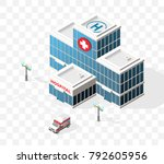 isometric high quality city... | Shutterstock .eps vector #792605956