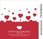 heart background for greeting... | Shutterstock .eps vector #792608632