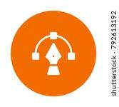 bezier design pen  | Shutterstock .eps vector #792613192