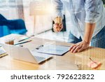 my workplace. professional... | Shutterstock . vector #792622822