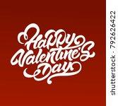 happy valentine's day in...   Shutterstock .eps vector #792626422