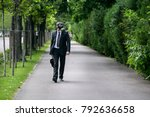businessman walking outdoor... | Shutterstock . vector #792636658