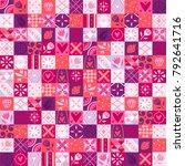 bright pink seamless pattern... | Shutterstock .eps vector #792641716