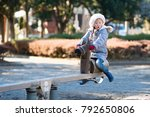 little girl playing in the... | Shutterstock . vector #792650806