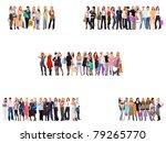 lines people separation | Shutterstock . vector #79265770