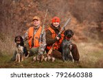 Hunters With Dogs Hunting A...