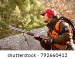 hunters with dogs hunting a... | Shutterstock . vector #792660412