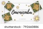 vector 23 february greeting... | Shutterstock .eps vector #792660886