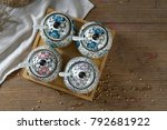 japanese hand painted ceramic...   Shutterstock . vector #792681922