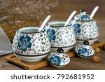 japanese hand painted ceramic...   Shutterstock . vector #792681952