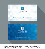 modern creative business card... | Shutterstock .eps vector #792689992