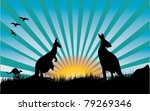 Kangaroo And Blue Rays