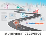business road map timeline... | Shutterstock .eps vector #792695908
