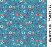 floral pattern in vector   Shutterstock .eps vector #792696712