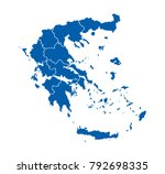 map of greece | Shutterstock .eps vector #792698335