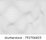 warped gray lines.wavy stripes... | Shutterstock . vector #792706825