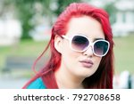 portrait of a young attractive... | Shutterstock . vector #792708658