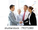 portrait of two business... | Shutterstock . vector #79271383