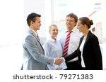 portrait of two business... | Shutterstock . vector #79271383