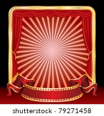 vector blank banner on stage... | Shutterstock .eps vector #79271458