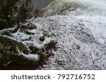 snowy forest in a mountain... | Shutterstock . vector #792716752