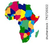 political map of africa on a... | Shutterstock .eps vector #792720322