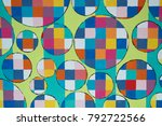Colorful Geometric Shapes In A...