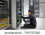 network administrator with... | Shutterstock . vector #792727282