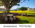 Small photo of Beautiful Kaneohe district park during sunny day near Honolulu near the Haiku stairs to heaven trails.