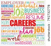 careers word cloud collage ... | Shutterstock .eps vector #792732778